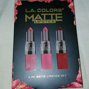 3 Pc Matte Lipstick Set